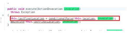 invocatin参数被使用在conditionParse方法中